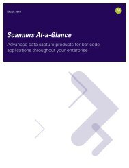 Scanners At-A-Glance Brochure - Motorola Solutions