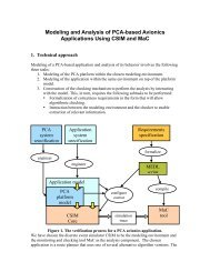 Modeling and Analysis of PCA-based Avionics Applications Using ...