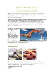 Energy and Metabolism Part 1