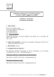 CAHIER DES CHARGES ET ACTE D'ENGAGEMENT - Institut du ...