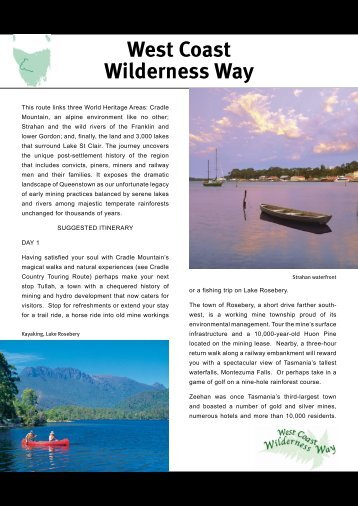 Download West Coast Wilderness Way Itinerary - Discover Tasmania