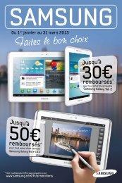 l'offre de Samsung - E-Merchant