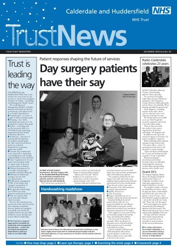 Trust News is the staff - Calderdale and Huddersfield NHS ...
