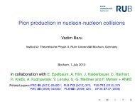Pion production in NN collisions - Institut für Theoretische Physik II