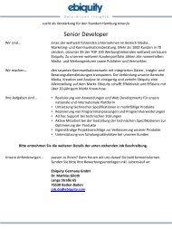 Senior Developer - Ebiquity