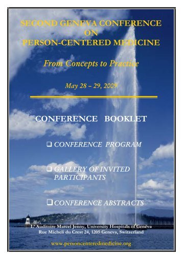 Conference Booklet - The International Network for Person-centered ...