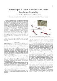 Stereoscopic 3D from 2D Video with Super- Resolution ... - TU Berlin