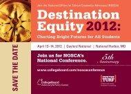 Destination Equity 2012: - College Board