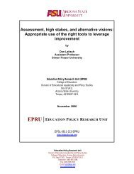 Assessment, High Stakes, and Alternative Visions: Appropriate Use