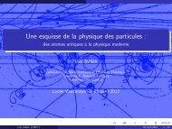 Une esquisse de la physique des particules : - des atomes ... - lmpt