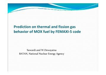 Prediction on thermal and fission gas behavior of MOX fuel by ...