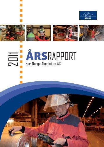 Årsrapport 2011.indd - Sør-Norge Aluminium AS