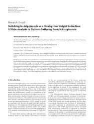Research Article Switching to Aripiprazole as a Strategy for Weight ...