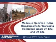 Common RCRA Requirements for Managing Hazardous Waste On ...