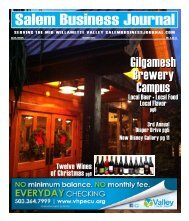 Dec 2012 - Salem Business Journal