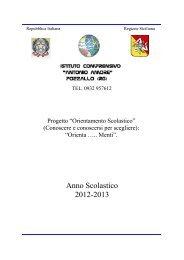 Anno Scolastico 2012-2013 - Istituto Comprensivo