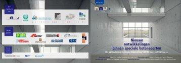 Nieuwe ontwikkelingen binnen speciale betonsoorten - GBB
