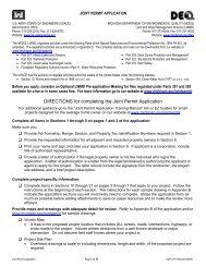 Joint Permit Application - Michigan Association of Conservation ...