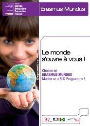 Livret Erasmus Mundus - Agence Europe-Education-Formation France