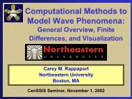 November 1st Presentation [.pdf] - CenSSIS - Northeastern University