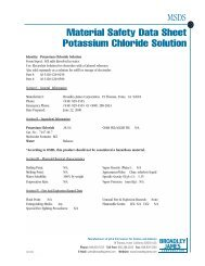 MSDS Material Safety Data Sheet Potassium Chloride Solution