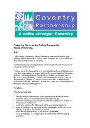 Coventry Community Safety Partnership - Coventry Partnership