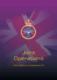Joint Doctrine Publication 01 - Integrated Defence Staff