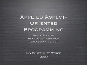No Fluff Just Stuff 2007 - Bosatsu Consulting