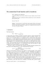 The symmetrized Fermi function and its transforms