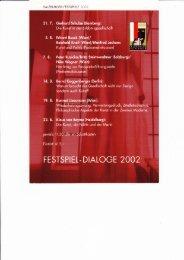 Festspiel-Dialoge 2002: Fragment, Zitat, Bricolage ... - W-k.sbg.ac.at