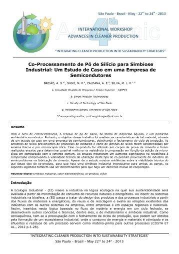 Co-Processamento de Pó de Silício para Simbiose Industrial: Um ...