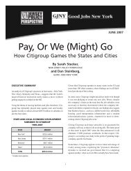 Pay or We (Might) Go: How Citigroup Plays the ... - Good Jobs First
