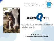 Projekt milchQplus - Landeskontrollverband Brandenburg eV