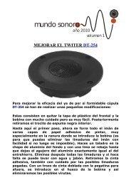 MEJORAR EL TWITER DT-254 - palcoelectronica