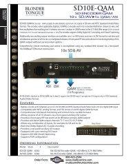 Blonder Tongue SD10E-QAM, SD Encoder - Multicom