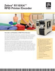 R110Xi4 Spec Sheet - BarCode ID Systems