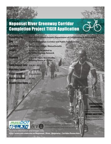 Neponset River Greenway Corridor Completion Project TIGER