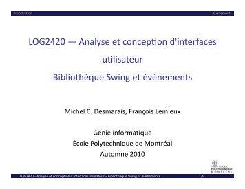 LOG2420 ― Analyse et concepon d'interfaces utilisateur ... - Cours
