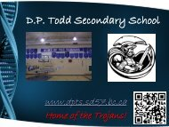 Required Courses - D.P. Todd