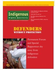 Access pdf version - Asian Indigenous and Tribal Peoples Network
