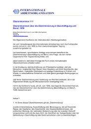 INTERNATIONALE ARBEITSORGANISATION - Nord-Süd-Netz