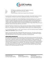 Child Abuse Memorandum - LEAP Academy University Charter School