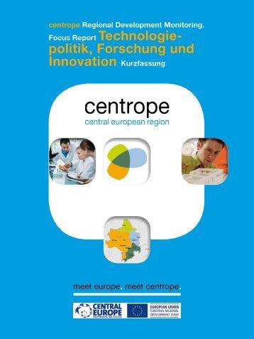 centrope Focus Report Technologiepolitik, Forschung und Innovation