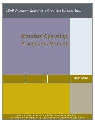 Standard Operating Procedures Manual - LEAP Academy University ...