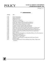 1000: Administration - LEAP Academy University Charter School
