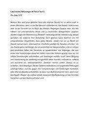 Lateinische Stilübungen III Teil A Text 5 Cic. Leg. 2,11 Marcus: Wie ...