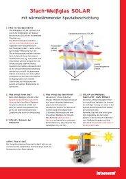 3fach-Weißglas SOLAR - Architektur & Technik