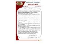 Bobcat Tracks - December 2011 - South Windsor Public Schools