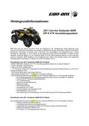 Hintergrundinformationen 2011 Can-Am Outlander 800R EFI X ATV ...