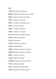 虾蟹生炸虾球Boulettes de crevette frites 番茄虾球Boulettes de ...